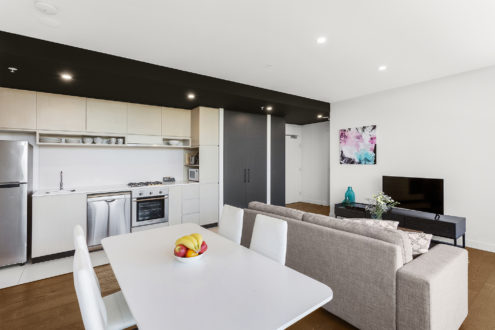 Two Bedroom Apartment - Living / Dining / Kitchen